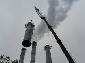 Замена дымовых труб. Котельная № 849
